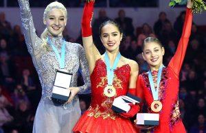 018 Russian Nationals Ladies Podium