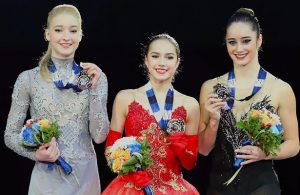 2017-18 Grand Prix Final of Figure Skating - Ladies Podium