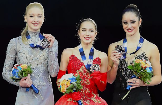 2017-18 Grand Prix Final of Figure Skating - Ladies Podium