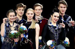 2017-18 Junior Grand Prix Final of Figure Skating - Ice Dance podium
