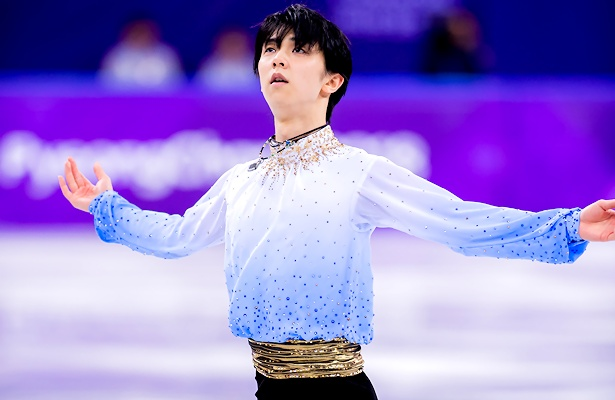 Hanyu leads the Men in in Pyeonchang